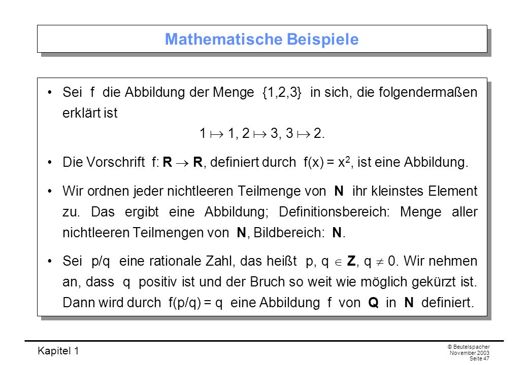 Mathematische Beispiele
