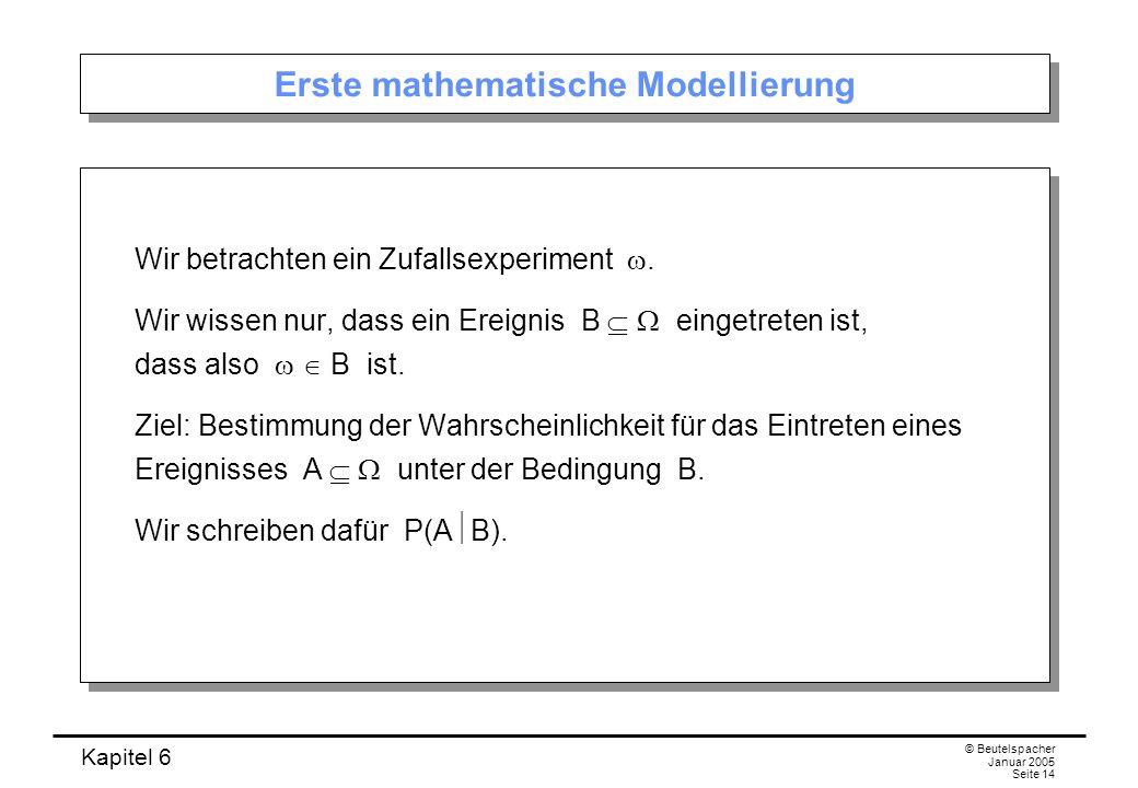 Erste mathematische Modellierung