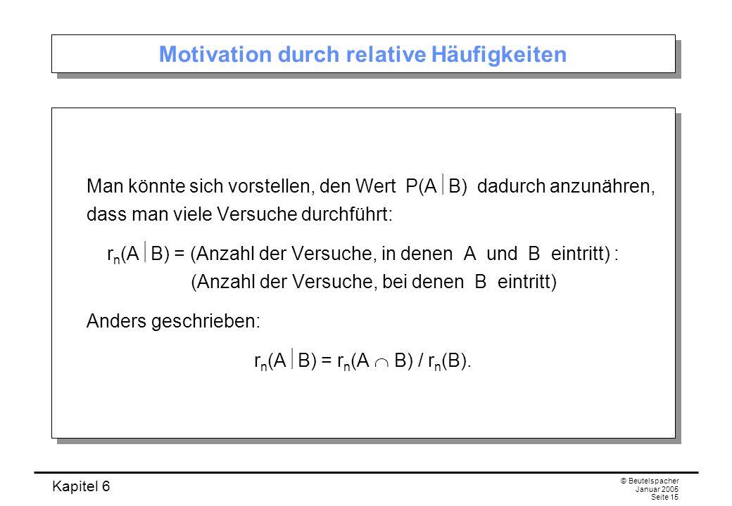 Motivation durch relative Häufigkeiten
