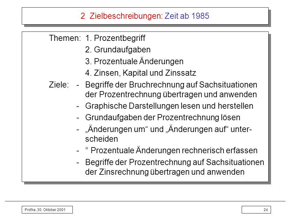 2 Zielbeschreibungen: Zeit ab 1985