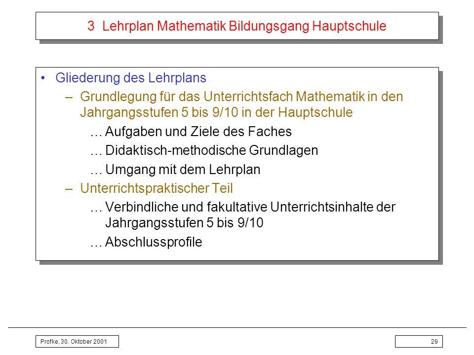 3 Lehrplan Mathematik Bildungsgang Hauptschule