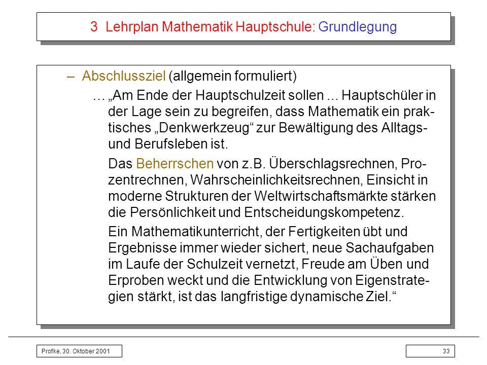 3 Lehrplan Mathematik Hauptschule: Grundlegung