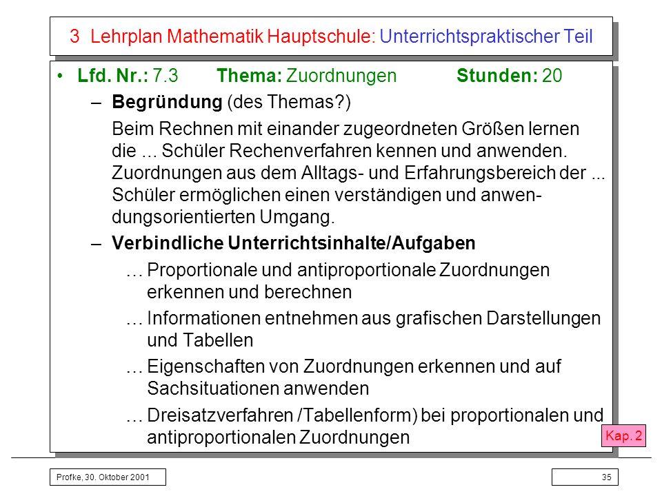 3 Lehrplan Mathematik Hauptschule: Unterrichtspraktischer Teil
