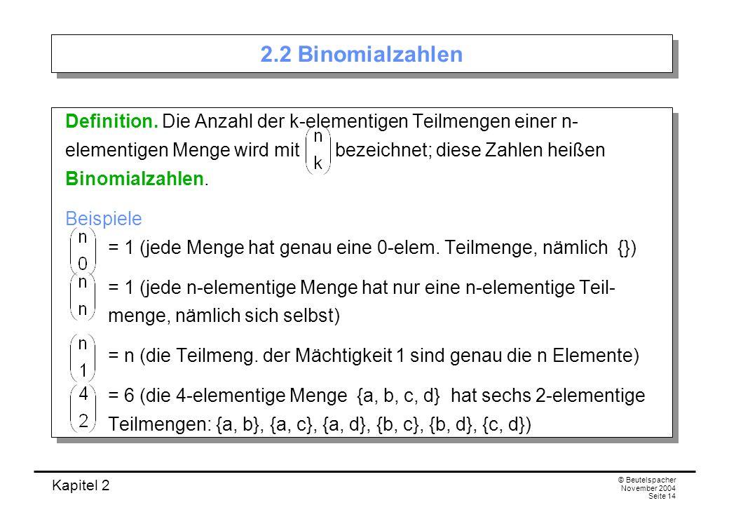 2.2 Binomialzahlen