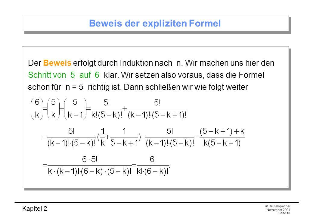 Beweis der expliziten Formel