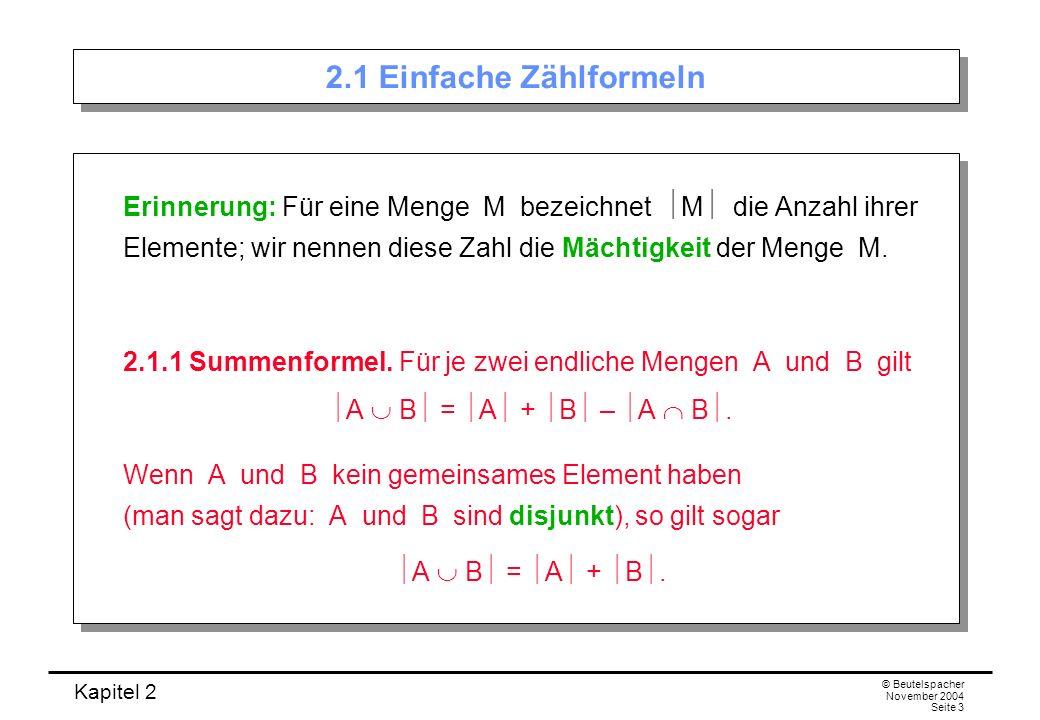 2.1 Einfache Zählformeln