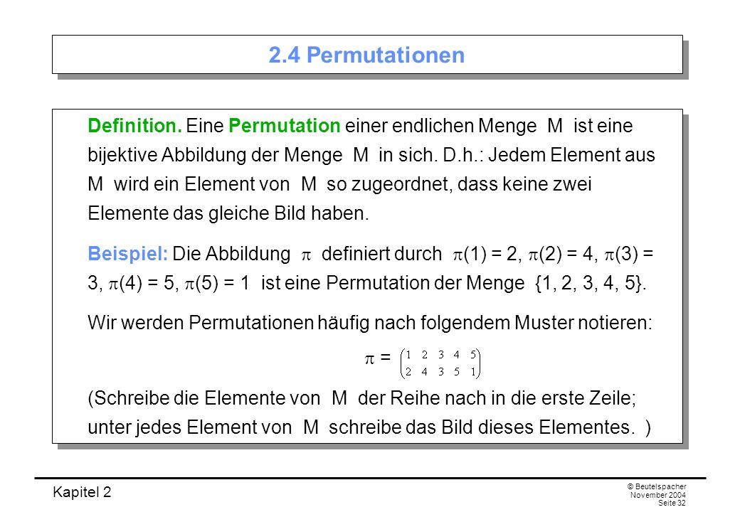 2.4 Permutationen