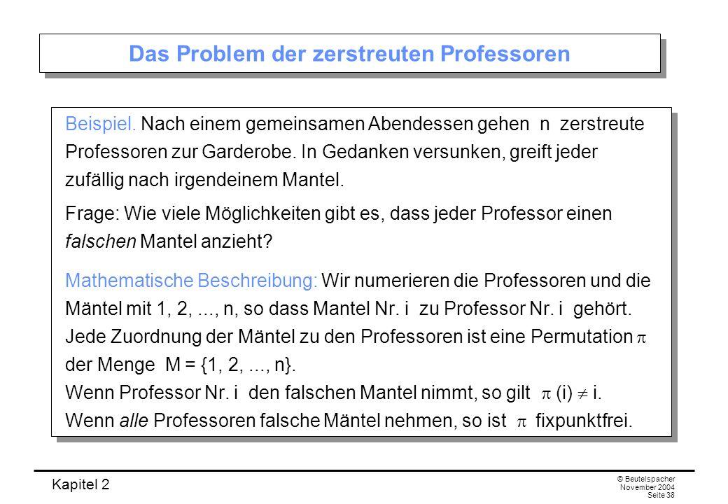 Das Problem der zerstreuten Professoren