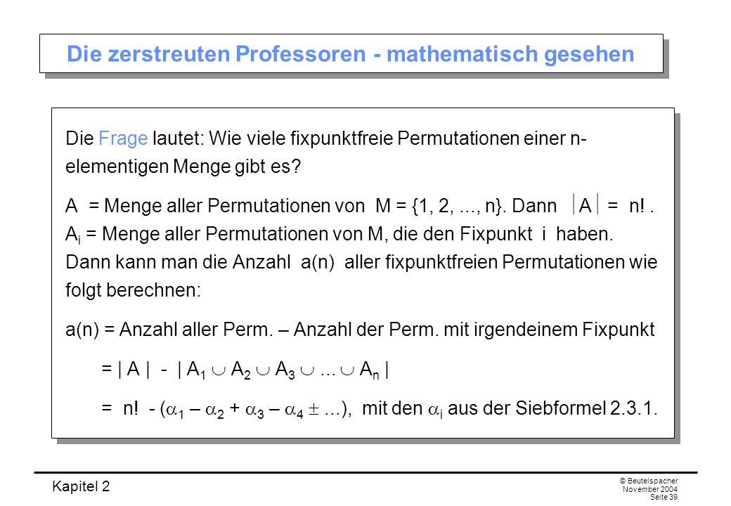Die zerstreuten Professoren - mathematisch gesehen