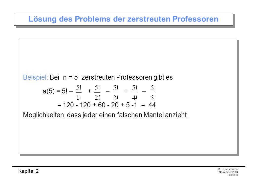 Lösung des Problems der zerstreuten Professoren