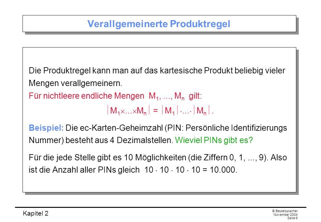Verallgemeinerte Produktregel