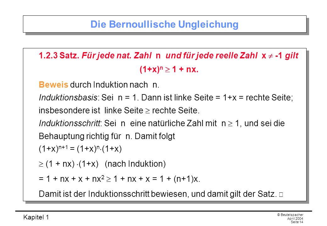 Die Bernoullische Ungleichung