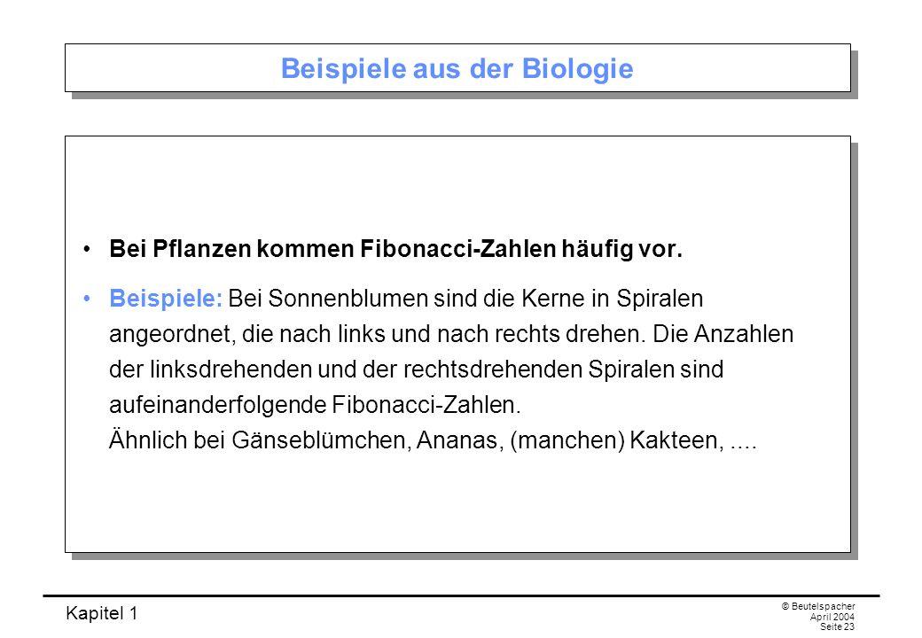 Beispiele aus der Biologie
