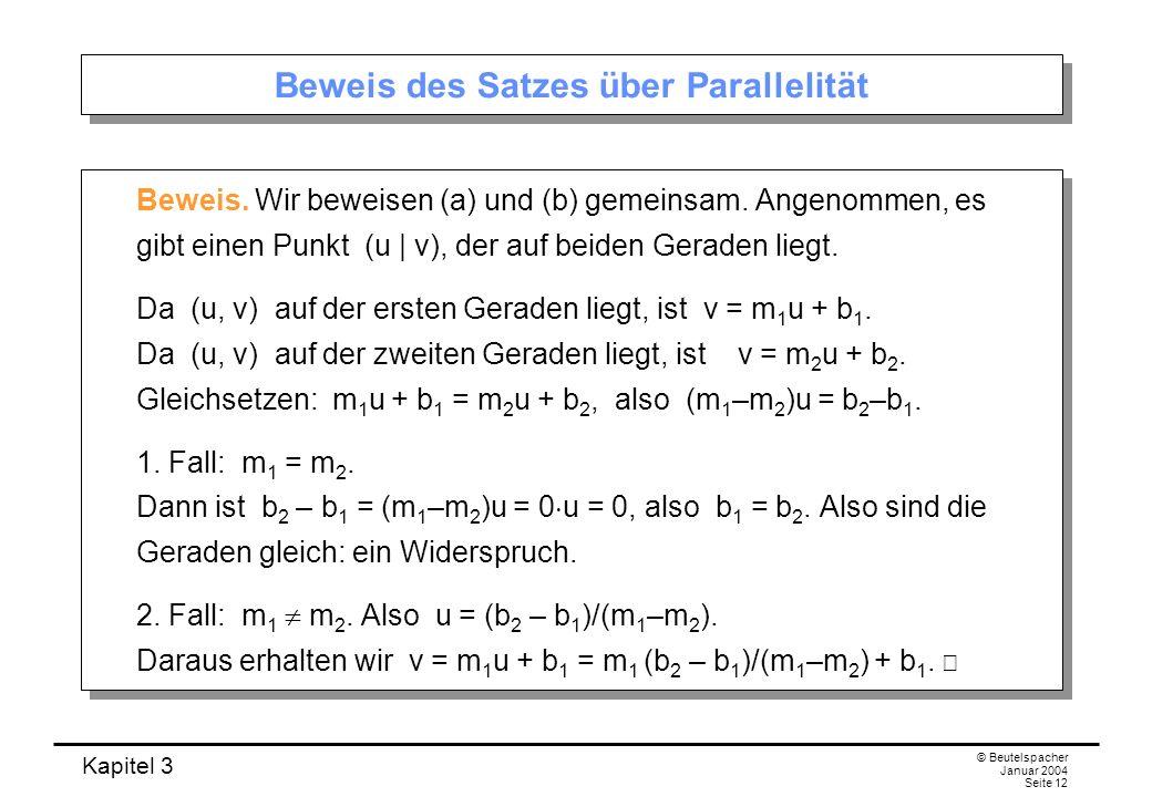 Beweis des Satzes über Parallelität