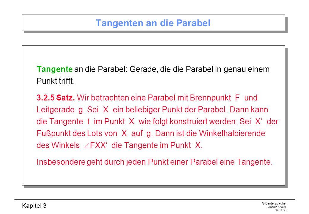 Tangenten an die Parabel