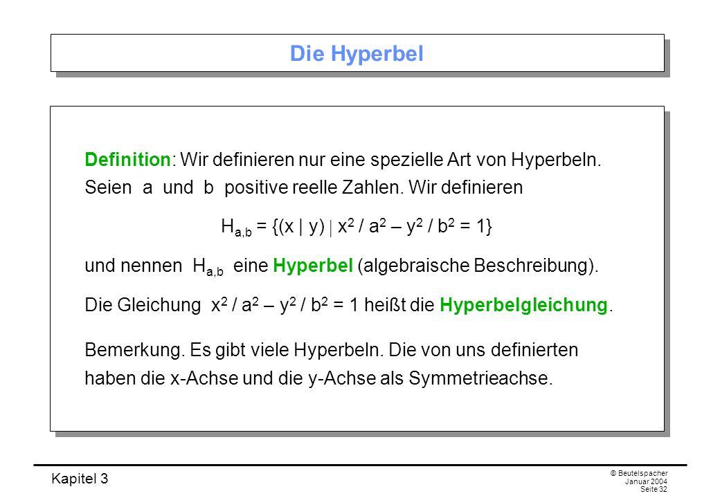 Ha,b = {(x | y)  x2 / a2 – y2 / b2 = 1}