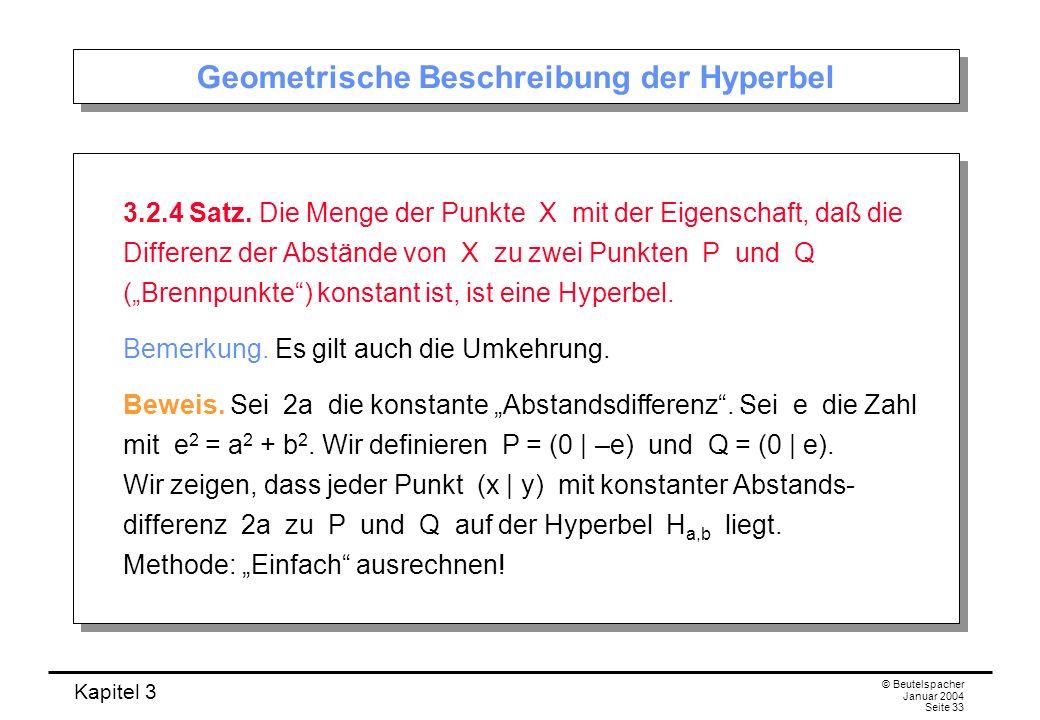 Geometrische Beschreibung der Hyperbel