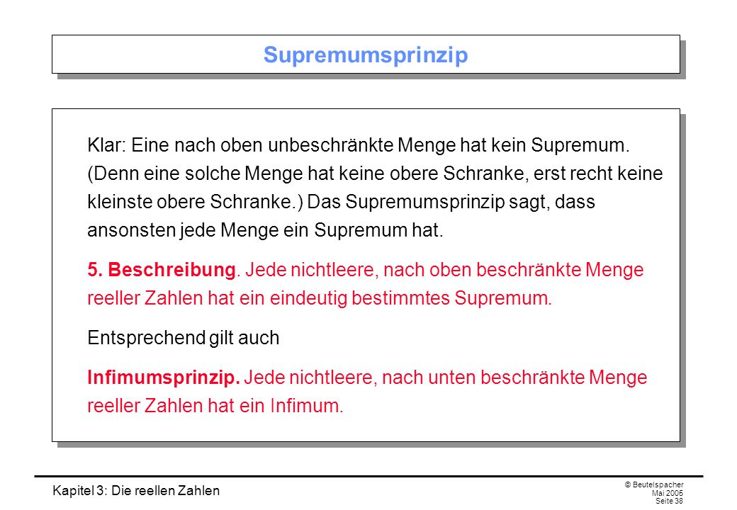 Supremumsprinzip