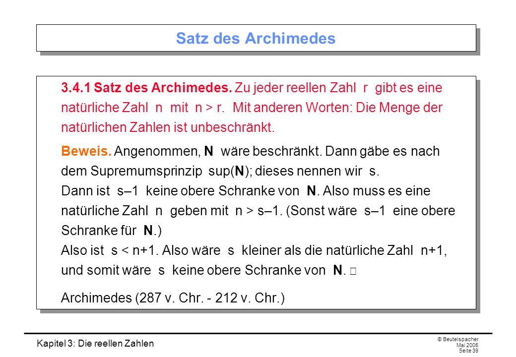 Satz des Archimedes