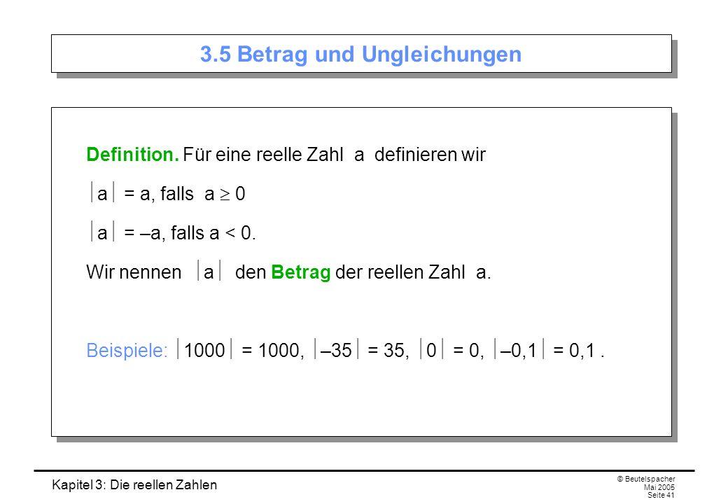 3.5 Betrag und Ungleichungen