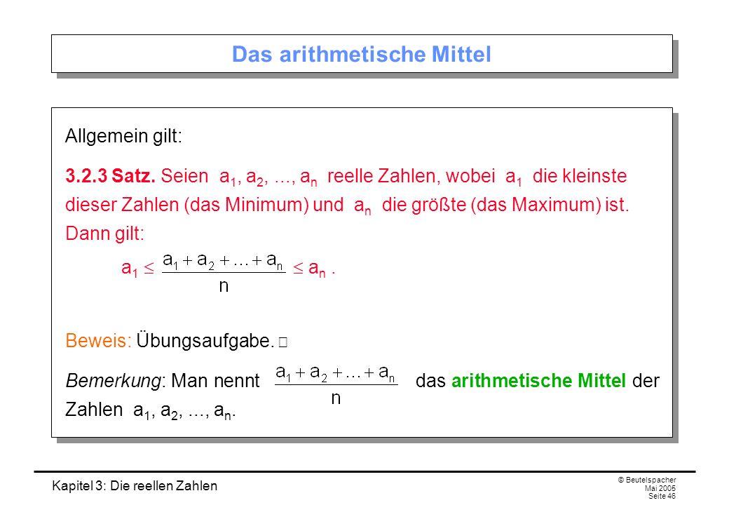 Das arithmetische Mittel