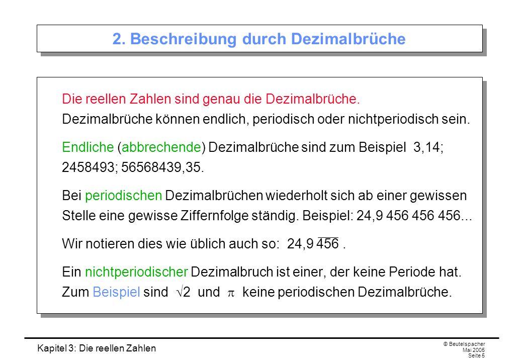 2. Beschreibung durch Dezimalbrüche