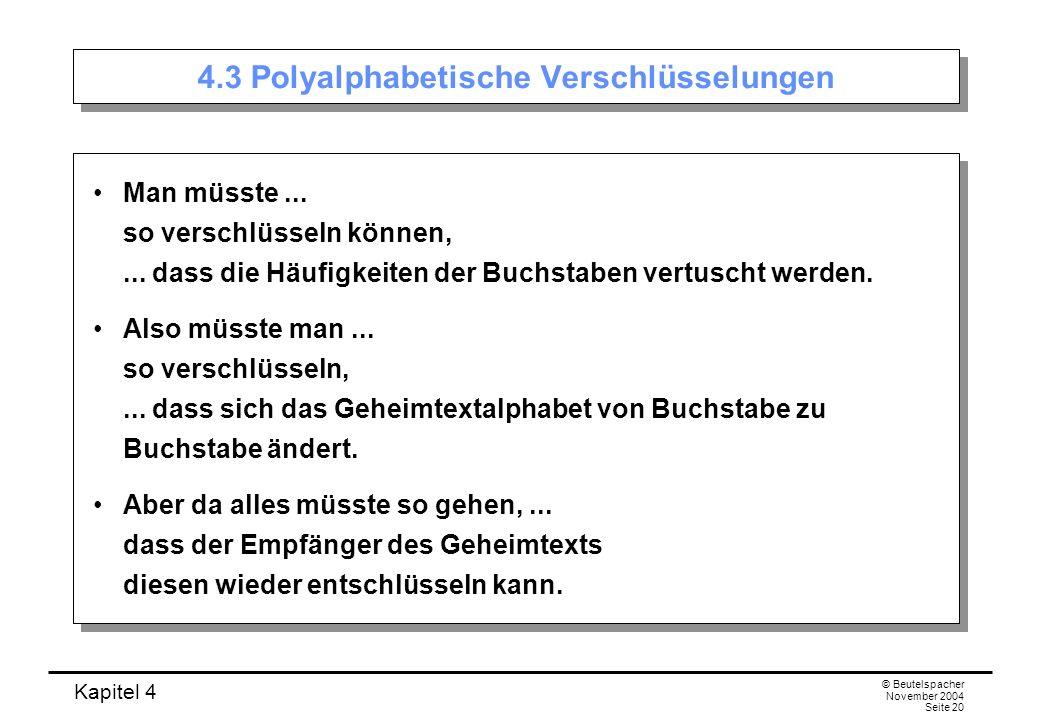 4.3 Polyalphabetische Verschlüsselungen