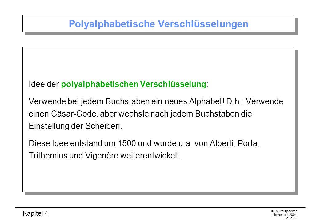 Polyalphabetische Verschlüsselungen
