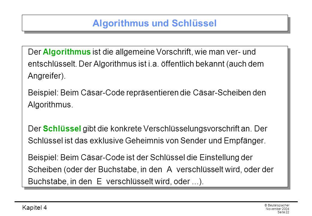 Algorithmus und Schlüssel