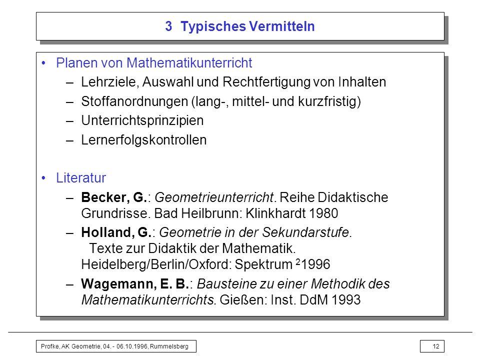 Planen von Mathematikunterricht