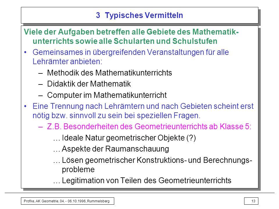 Methodik des Mathematikunterrichts Didaktik der Mathematik