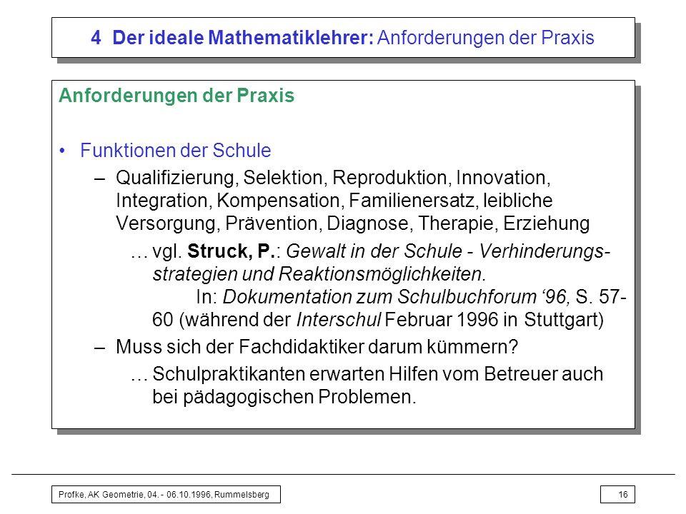 4 Der ideale Mathematiklehrer: Anforderungen der Praxis