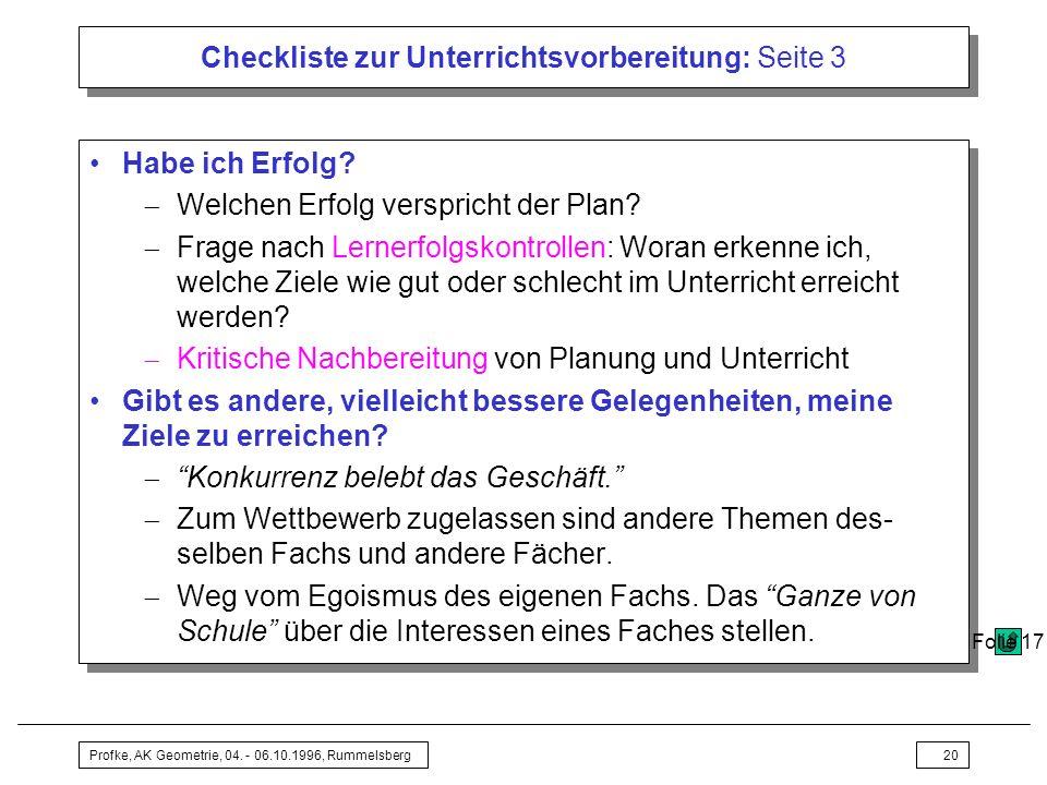 Checkliste zur Unterrichtsvorbereitung: Seite 3