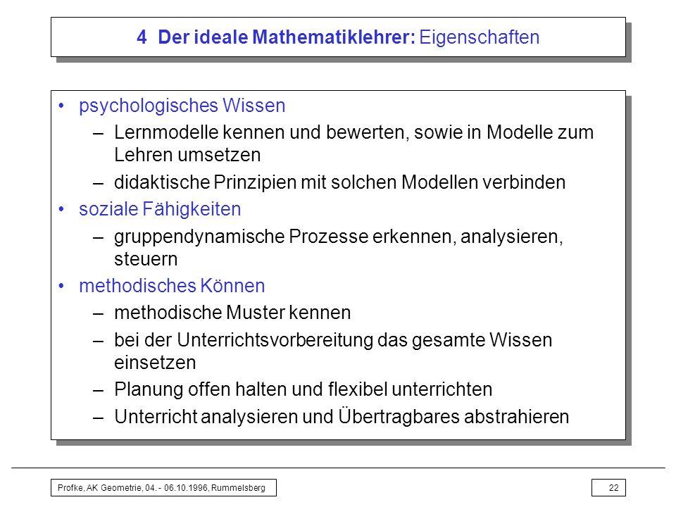 4 Der ideale Mathematiklehrer: Eigenschaften