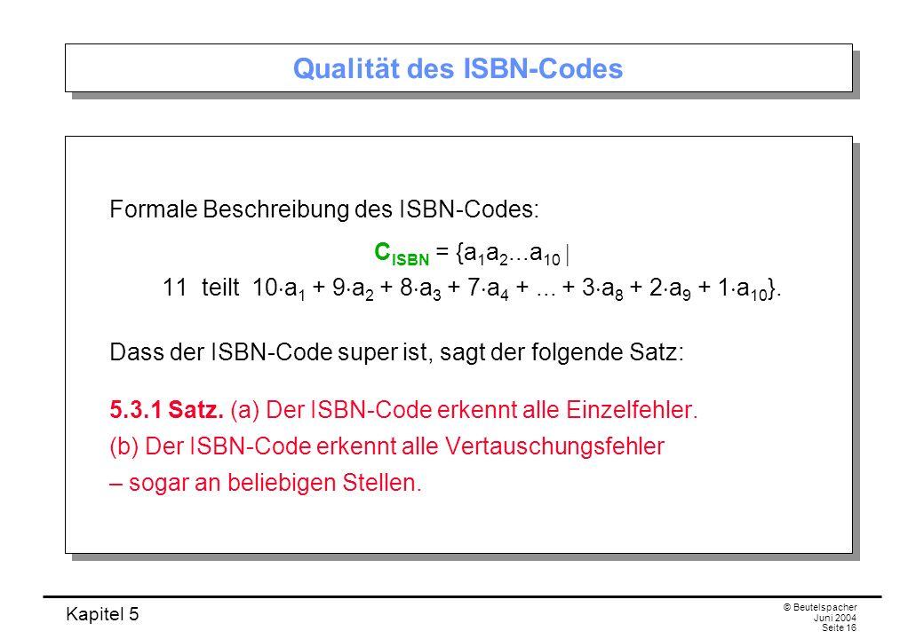 Qualität des ISBN-Codes