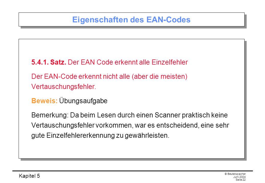 Eigenschaften des EAN-Codes