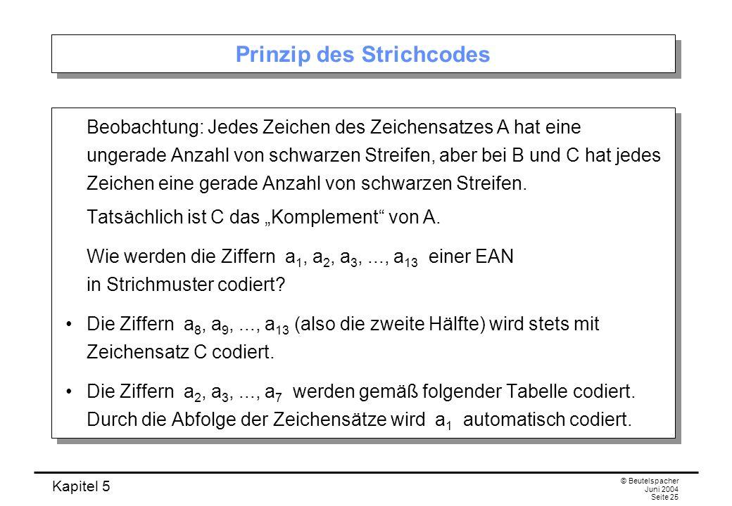 Prinzip des Strichcodes