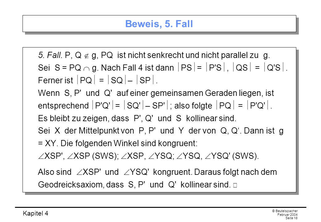 Beweis, 5. Fall