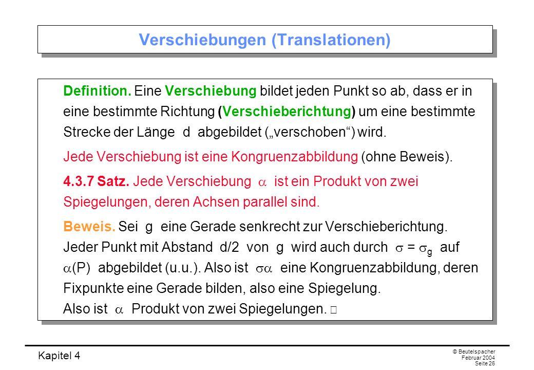 Verschiebungen (Translationen)