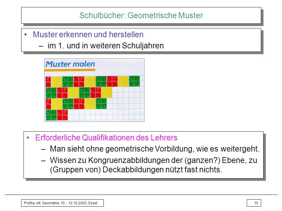 Schulbücher: Geometrische Muster