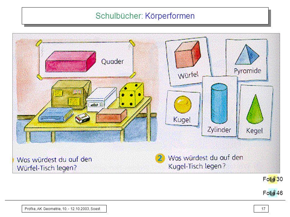 Schulbücher: Körperformen