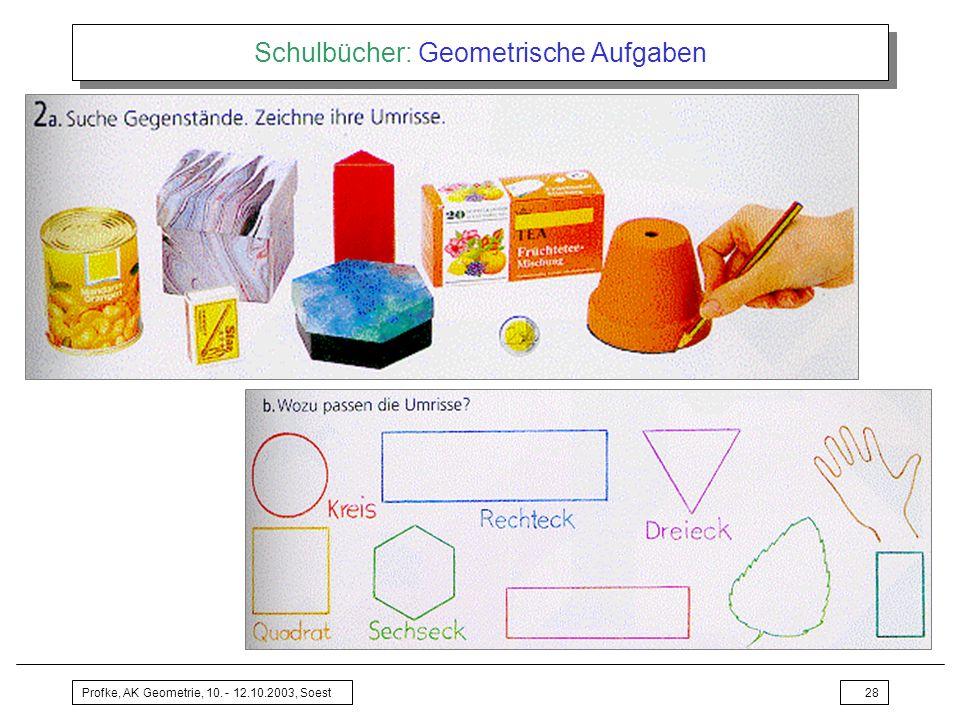 Schulbücher: Geometrische Aufgaben