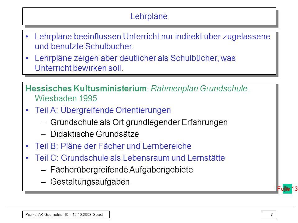 Hessisches Kultusministerium: Rahmenplan Grundschule. Wiesbaden 1995