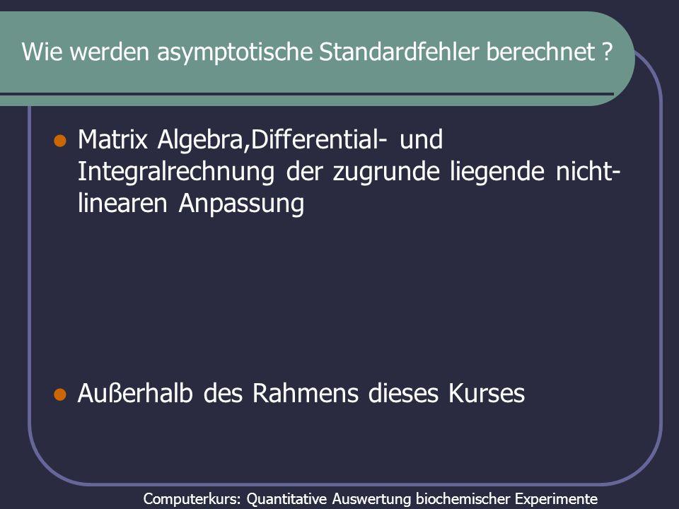Wie werden asymptotische Standardfehler berechnet