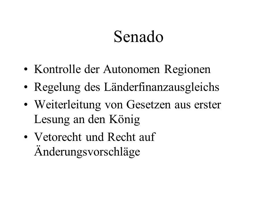 Senado Kontrolle der Autonomen Regionen