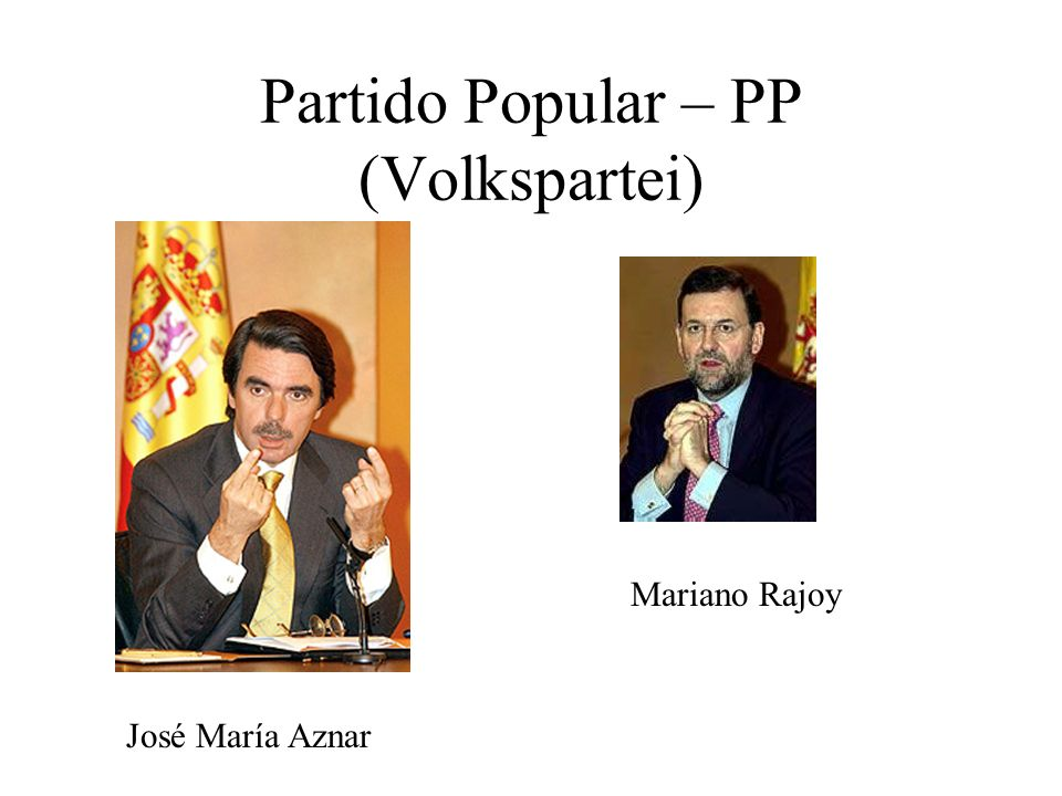 Partido Popular – PP (Volkspartei)