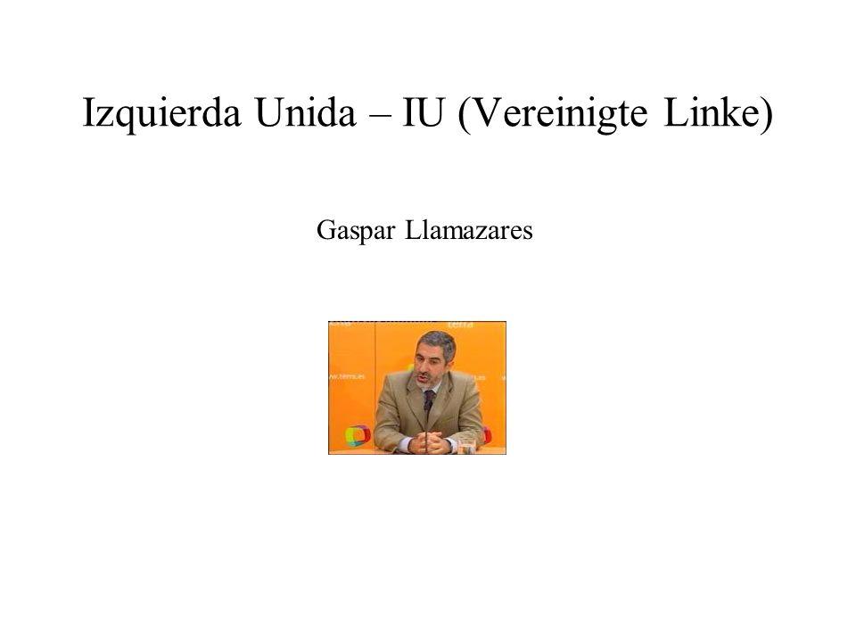 Izquierda Unida – IU (Vereinigte Linke)