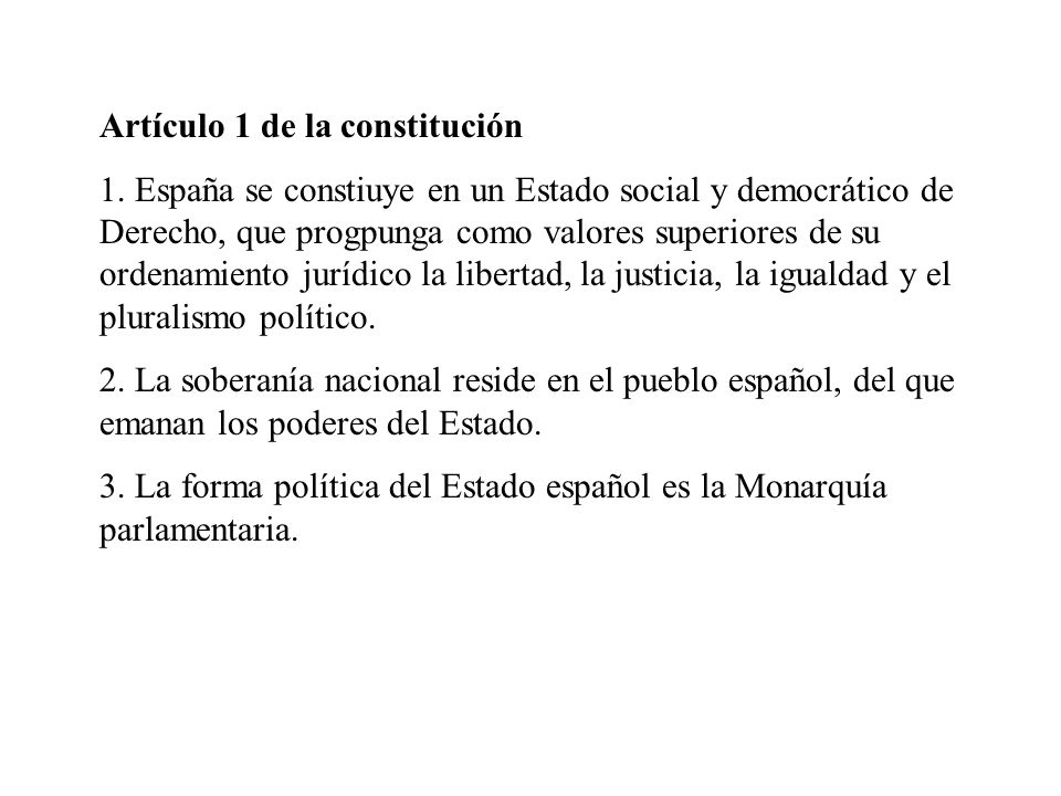 Artículo 1 de la constitución