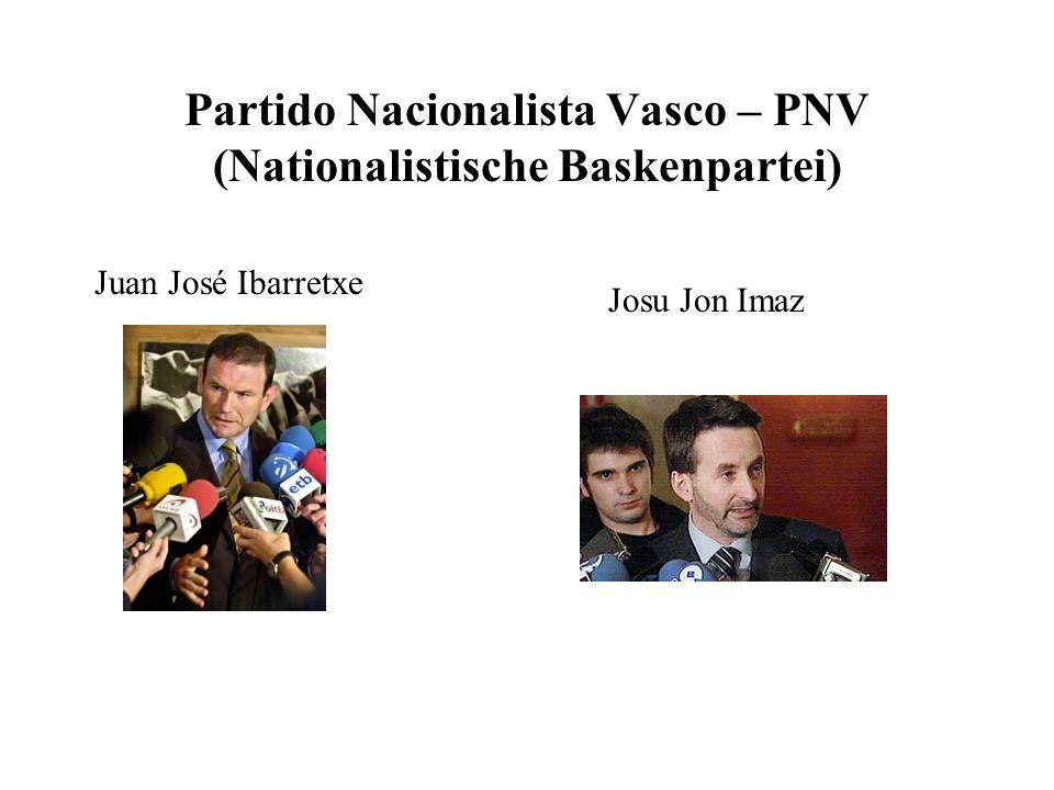 Partido Nacionalista Vasco – PNV (Nationalistische Baskenpartei)