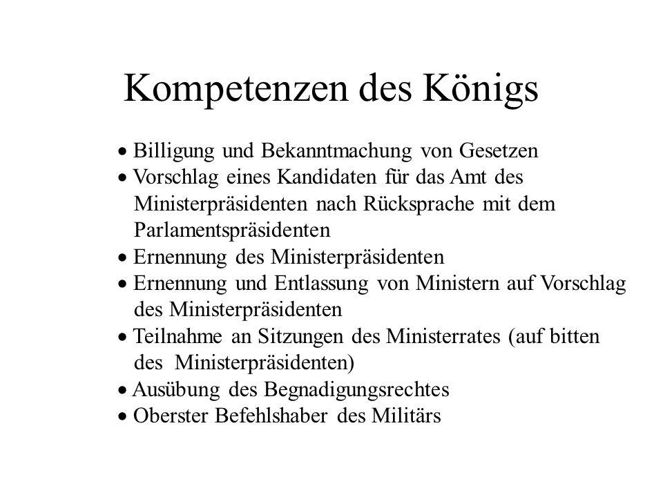 Kompetenzen des Königs